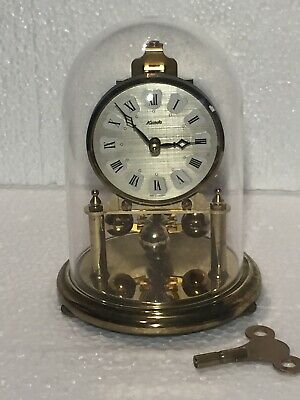 "Vintage 1960's ""KUNDO"" German 400 Day Anniversary Dome Clock With Key"