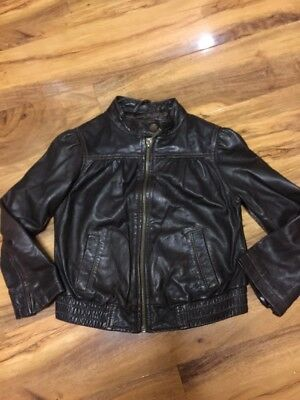 Gap Girls Real Leather Jacket Aged 4-7 Years Old
