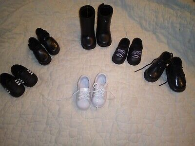 LOT of 6 pairs of SHOES BOOTS  fits 18 Inch Girl Doll