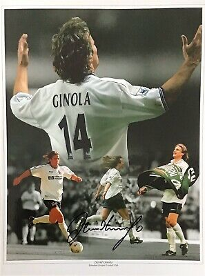 David Ginola  Authentic Signed Spurs 16X12 Photo Aftal#198