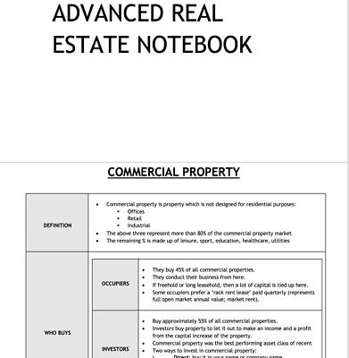 LPC Notes 2020 Advanced Real Estate Notebook