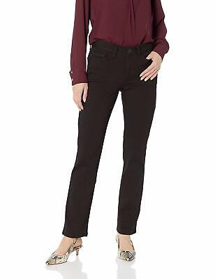 LEE Women's Secretly Shapes Regular Fit Straight Leg Jean,, Jet Black, Size 8.0