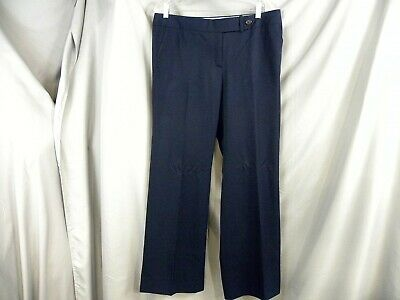 J. Crew-Women Favorite Fit- Navy 100% Wool Lined Pants-Size:12 -Navy-  New Tags