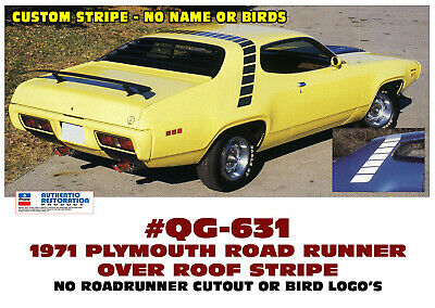 QG-589 1974 PLYMOUTH ROAD RUNNER SIDE /& ROOF SOLID STRIPE