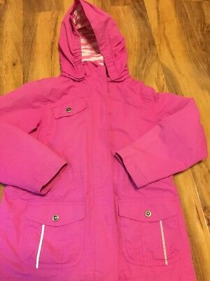 Peter Storm Girls Pink Jacket With Detachable Hood Aged 7-8 Years Old