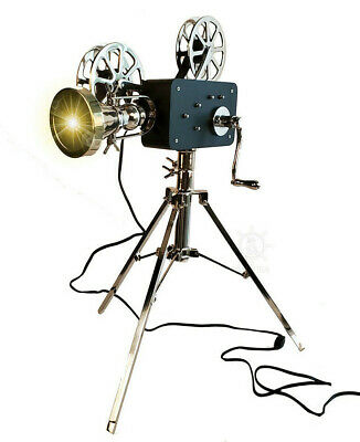 """Movie Theater Film Projector Floor Lamp 36"""" Replica Vintage Hollywood Home Decor"""