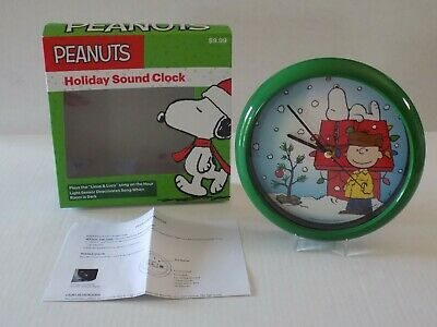 Peanuts Charlie Brown & Snoopy Holiday Musical Sound Clock