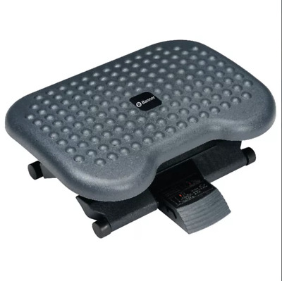 Banner Deluxe Foot Rest Non Slip Adjustable Angle Black + Free 24h Delivery