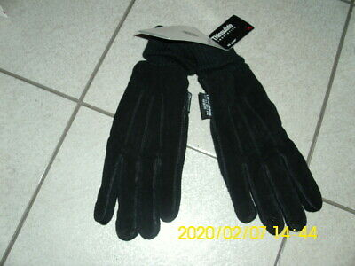 Jaclyn Smith Polyester Suede Knit Gloves 3M Thinsulate black L/XL