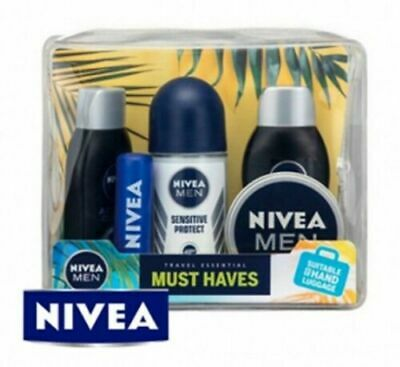 NIVEA Men's Essential Travel Kit Suitable for Hand Luggage Gift Pack.