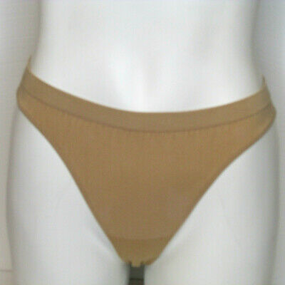 VTG VS Victoria's Secret Body Seamless Teenikini Bikini Panties sz Small Beige
