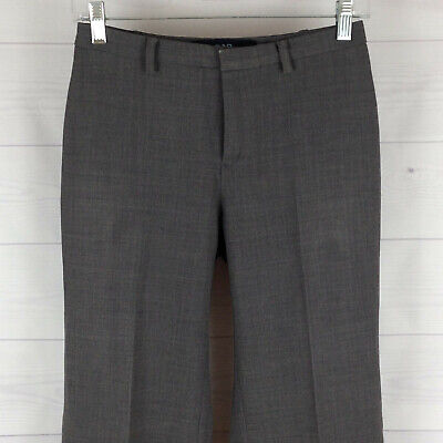 GAP womens size 1 stretch gray wool blend flat front dress career trouser pants