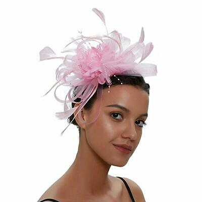 Fascinator Feathers Hair Clip Vintage Hat for Women Tea Party Wedding Headpiece