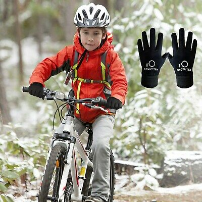 Kids Winter Gloves Girls Boy Travel Fleece Warm Waterpoof Windproof Outdoor Pair