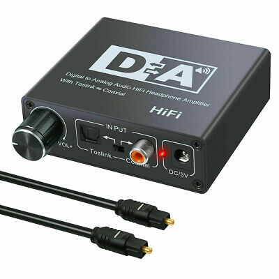 192KHZ Coaxial Optical Digital to Analog Audio Converter Adapter RCA HIFI Useful