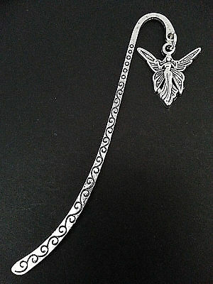 New Antique Silver Metal Bookmark with Fairy Shape Charm Accessory Gift
