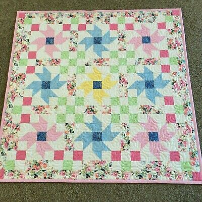 Handmade Baby or Toddler Quilt-Flowers