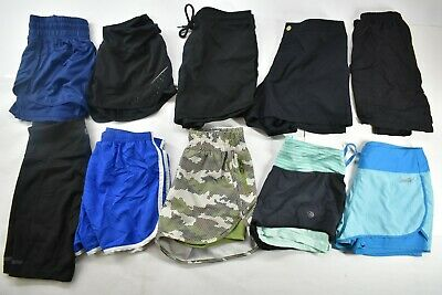Wholesale Lot of 9 Womens Sz Small Mixed Brands Athletic Sport Activewear Shorts