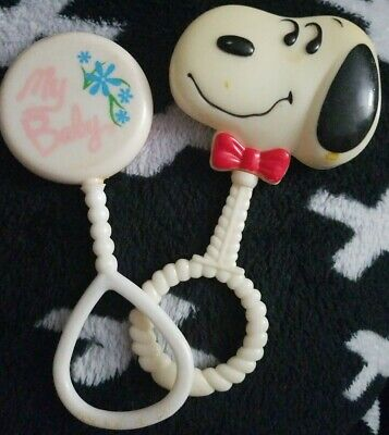Vintage Baby Rattles Snoopy And My Baby