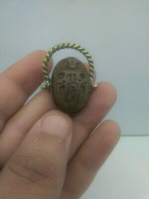 RARE ANCIENT EGYPTIAN ANTIQUE SCARAB Ring 1578-1253 BC