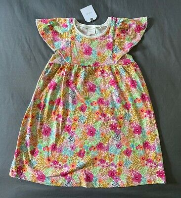 Toddler Girl 3-4 Years Next UK Multicolor Floral Print Summer Cotton Play Dress