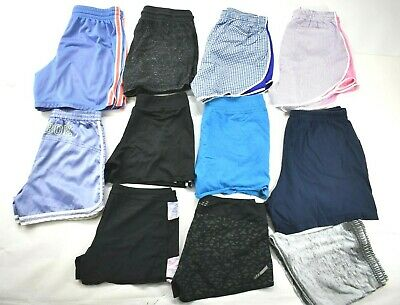 Wholesale Lot of 11 Women's Sz Large Mixed Brands Everyday Athletic Sport Shorts
