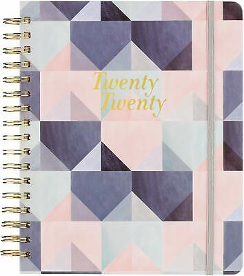 2020 Monthly Weekly Planner Pink Purple Print with Sticky Notes