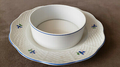 Rare Antique Herend Pattern 390 Porcelain Soup Bowl with Plate. From Hungary.