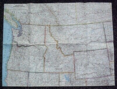 National Geographic NorthWestern United States map Sept 1945 25 x 19 Inches