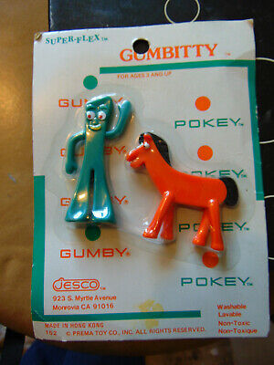 NOS  Gumby and Pokey Character Set on Card
