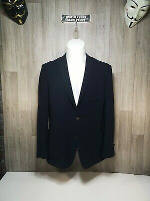 Tallia Orange Label Blazer 40/Reg Dark Blue Amazingly Colourful Paisley Liner