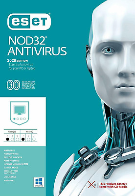 ESET Nod32 Antivirus V13 2020 1 an | 1PC Global Clé WIN & MAC | Fast eDelivery