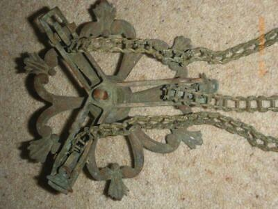 Antique Brass Ceiling Light Rise & Fall Hook & Chains