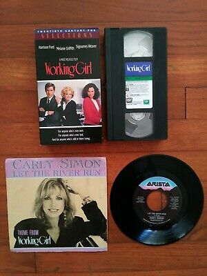 Bundle Of 2 Working Girl VHS Tape & 45 RPM Record With Sleeve