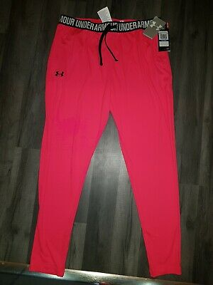 Pink Under Armour Heat Gear running leggings Size YXL Girls