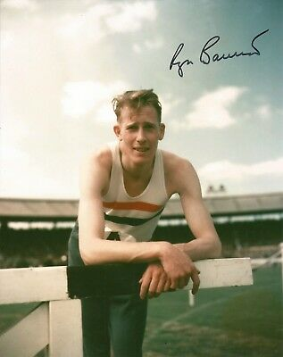 Hand Signed 8x10 photo SIR ROGER BANNISTER - 4 Minute Mile + my COA