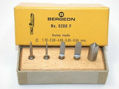 Bergeon No. 6200 Assortment of NOS Reamers. 151G