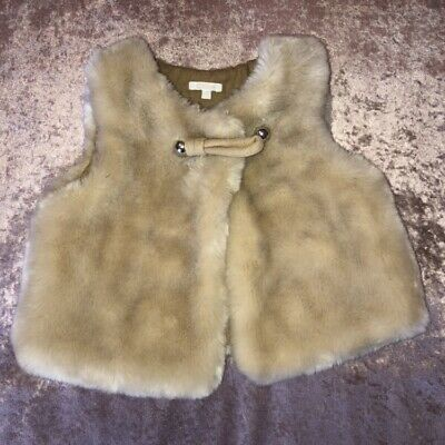 Chloe Baby Girl Cream Fur Gilet Body Warmer Coat Jacket Authentic 2 Years 2-3