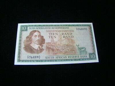 South Africa 1966-76 10 Rand Banknote Gem Uncirculated Pick #114b Very Nice!!