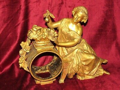 Very Nice French Gilt Clock Case With Figure