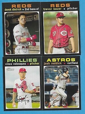 2020 Topps Heritage 1971 Style Singles Complete Your Set - You Pick NM (1 - 400)