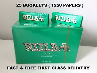 1250 Rizla Green Rolling Papers Made In Belgium Original 25 Booklets