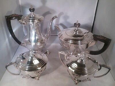Vintage  silver plated Art Deco style 4 piece tea service