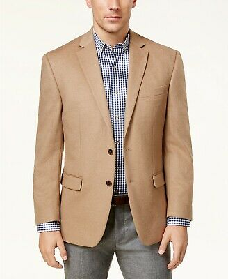 $450 Ralph Lauren Silk & Cashmere Sport Coat Mens 38S 38 Blazer Camel Brown NEW