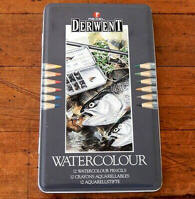 Rexel Derwent Watercolour Pencils Set 12 - Used - Art