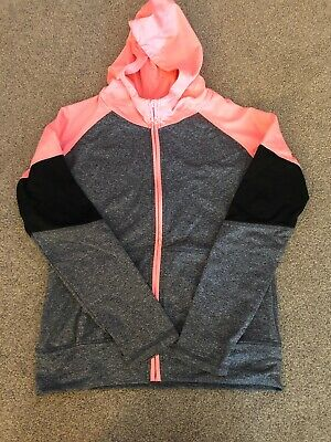 GIRLS AGE 12-13 grey/pink/black ACTIVE WEAR TOP/jacket, Primark
