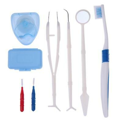 Professional Orthodontic Toothbrush Floss Brace Protect Wax Oral Care Kit *DC