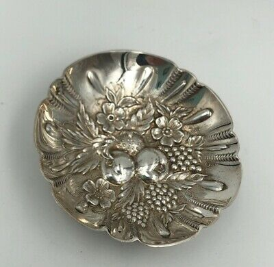 S. Kirk & Son Sterling Silver Repousse Footed Nut Dish #43