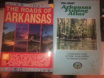 The Roads Of Arkansas & Arkansas Fishing Atlas