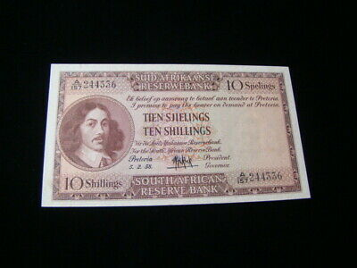 South Africa 1958 10 Shillings Banknote XF Pick #91d